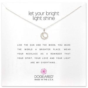 Dogeared Let Your Bright Light Shine Necklace
